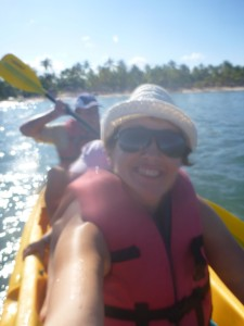 Family kayaking in Punta Cana
