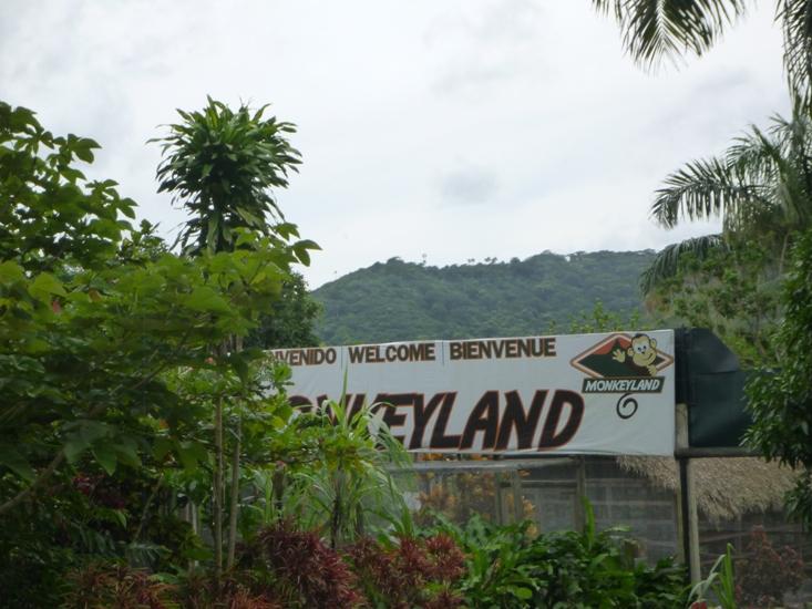 Entrance banner to Monkeyland Punta Cana